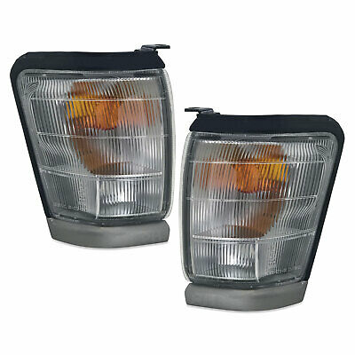 Indicator Lights PAIR Front Cnr Park Grey Trim Fits Toyota Hilux 4WD 97-01