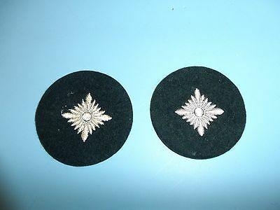 b4606 WW2 Original German Army Early War Oberschutze white on dark green