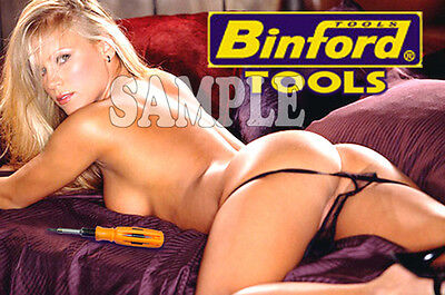 Sexy Binford Tools Tool Time Girl tool box magnet sexy nude blonde porn star