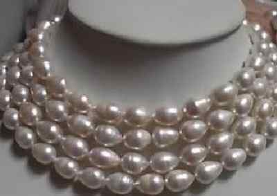 80INCHELEGANT8-9MM BAROQUE WHITE AAA++SOUTH SEA PEARL NECKLACE   k222