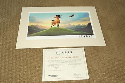 Dream Works Animation Art Lithograph Spirit Stallion of The Cimarron Limited Ed