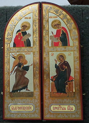 Nativity triptych  wood icon