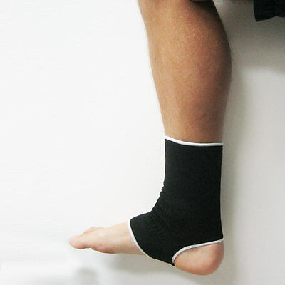 Ankle Support Brace Elastic Compression Wrap Sleeve Sports Relief Pain Foot New