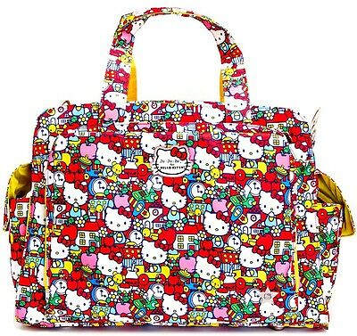 Ju Ju Be For Hello Kitty Be Prepared Baby Diaper Bag Tick Tock w/ Changing Pad