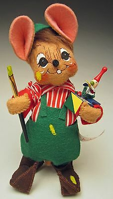 """Annalee 2002 Christmas Mobilitee 7"""" Workshop Mouse Elf & Toy Figure No. 769402"""