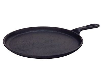 Lodge L9OG3 Pre-Seasoned Cast-Iron Round Griddle, 10.5-inch New