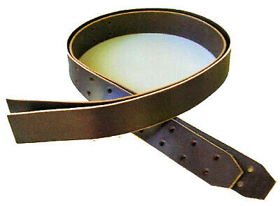 """Amish Made Genuine Leather WESTERN STIRRUP STRAPS w/ Buckles-BROWN 2 1/2"""" 2-post"""