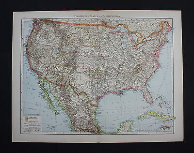 1890 Minnseota Wyoming Wisconsin Kansas Missouri America Karte map Lithographie
