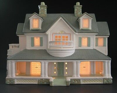 Christmas Easter Village Lighted Handpainted Ceramic House by Burns & Conahan