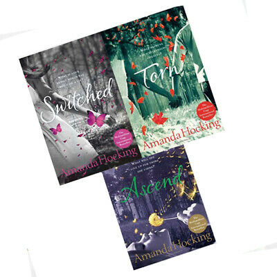 Amanda Hocking Young Adults Collection 3 Books Set (Torn, Ascend, Switched) New