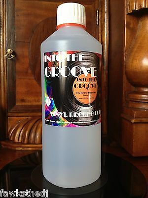 INTO THE GROOVE  RECORD CLEANER  1/2 LITRE   (550ml)  REFILL BOTTLE  SAVE  £££s