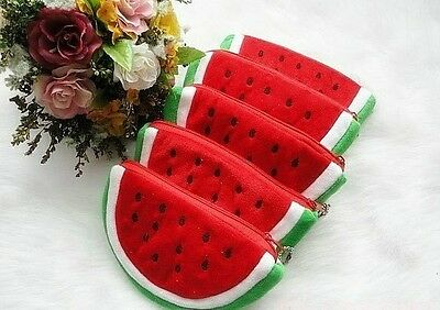 New 12 Pcs Half round watermelon children wallet purses gift bags Cosmetic bag