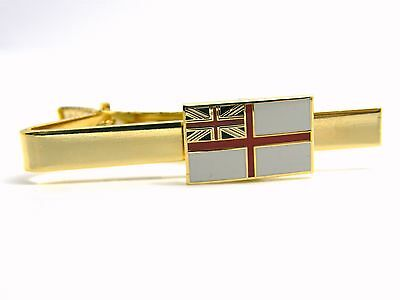 The Royal Navy Ensign Rn Badge Tie Clip Pin Slide Naval Military Gift In Box