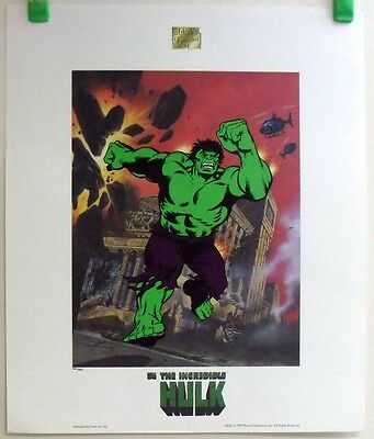 """1999 marvel comics *the incredible hulk* numbered 434/500 19x23"""" poster 18814 d"""