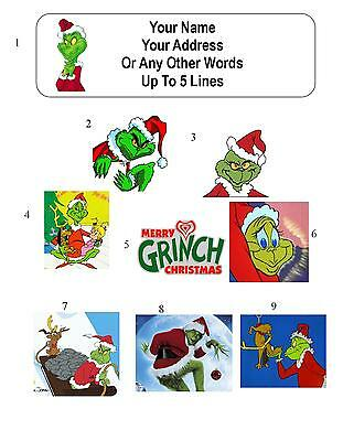 30 The Grinch Who Stole Christmas Personalized Address Labels