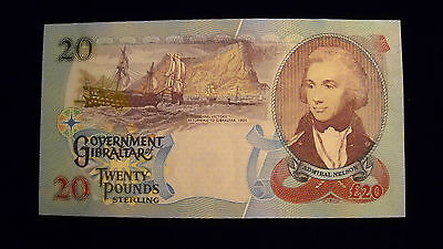 Gibraltar 2006 Twenty Pounds P33 - Beautiful Unc