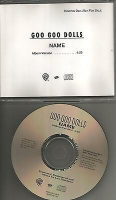 GOO GOO DOLLS Name 1995 USA Ultra Rare PROMO Radio DJ CD single MINT