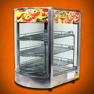 New MTN Commercial Stainless Steel Countertop Food Pizza Display Warmer 20x17x14
