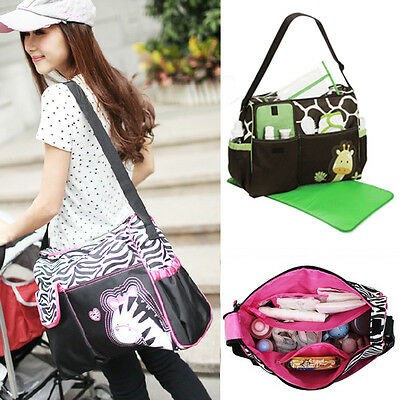 3Pcs/Set Multifunction Baby Diaper Nappy Mummy Feeding Handbag Tote Shoulder Bag