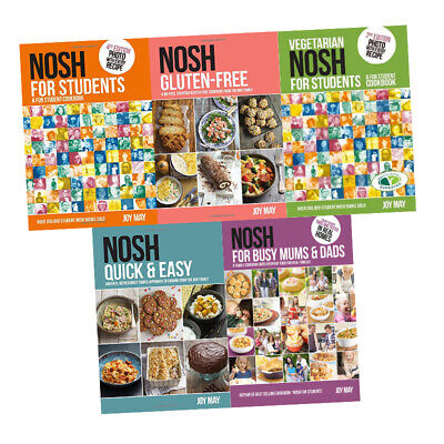 Joy May Nosh Gluten-Free 5 Books Collection Set Vegetarian Nosh for Students NEW
