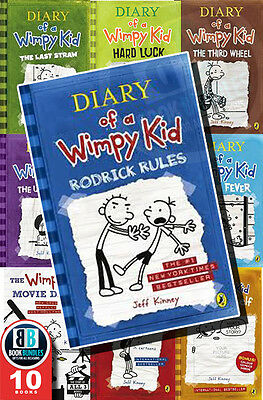 Rodrick rules Children Fiction by jeff Kinney 10 Books Age4-8 Paperback English