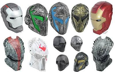 Optional multi-role  Mask Full Face Protection Cosplay Outdoor Paintball Airsoft