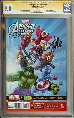Avengers Assemble #1 Lego Variant Cgc 9.8 Signature Series Signed Stan Lee