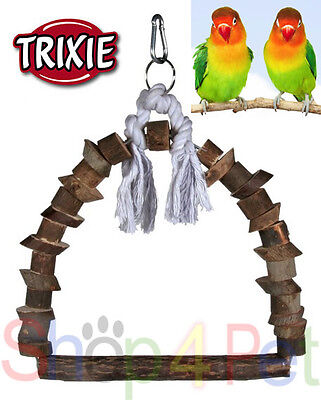 TRIXIE NATURAL LIVING ARCH SWING + CLIP - BUDGIE, CANARY or SMALL BIRDS