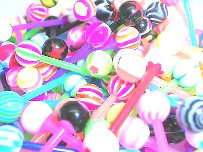 15 mod new flexi mix funky Tongue Bars PIERCING Jewellery tounge  super sale