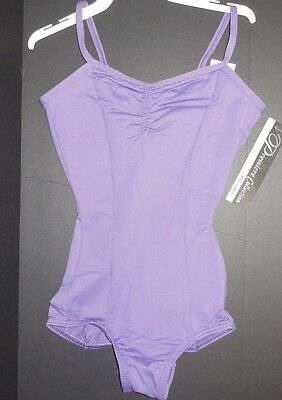 NWT Body Wrappers P521 Black Shirred front Tank leotard flattering style line