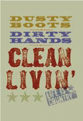"LEANIN TREE ""Dusty Boots - Clean Livin' - Country Life"" ~ Fridge Magnet #67044~"