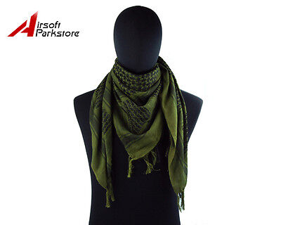 Army Military Tactical Arab Shemagh Keffiyeh Scarf Shawl Neck Cover Olive Drab