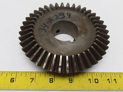 """Miter Gear 8 Pitch 40-Teeth 1.5""""Bore 5"""" Pitch Dia OD 20 Degree Pressure Angle"""