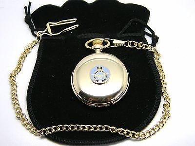 The Royal Air Force Raf Badge Pocket Watch & Chain R A F Military Gift