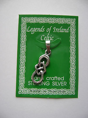 Sterling Silver Celtic Irish Long Knot Pendant New