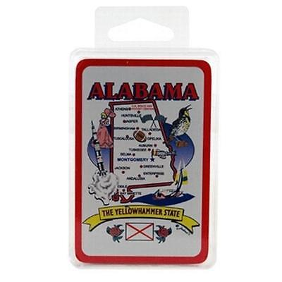 DDI 380608 Alabama Playing Cards State Map 24 Display unit Case Of 96