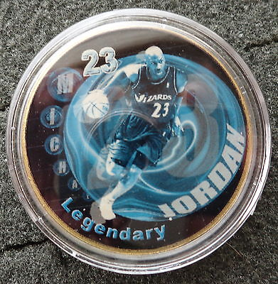 MICHAEL JORDAN  1 oz  24 KT .gold plated  COLLECTIBLE  COIN  # 9