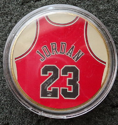 MICHAEL JORDAN  1 oz  24 KT .gold plated  COLLECTIBLE  COIN  #10