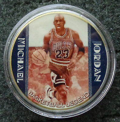 MICHAEL JORDAN  1 oz  24 KT .gold plated  COLLECTIBLE  COIN  # 12