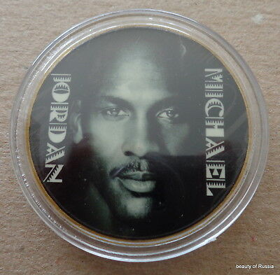 MICHAEL JORDAN  1 oz  24 KT .gold plated  COLLECTIBLE  COIN  # 13