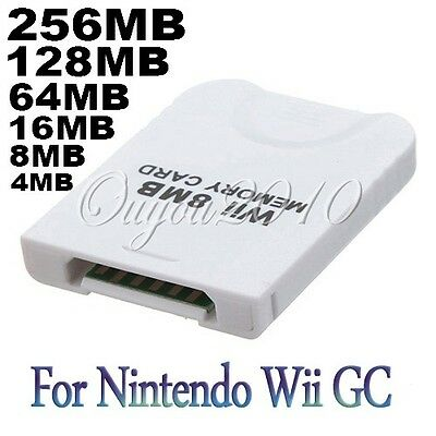 MEMORY CARD 4MB 8MB 16MB 64MB 128MB 256MB FOR Nintendo Wii Gamecube NGC Console