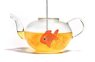 Suck UK Gold Fish Novelty Tea Infuser Small Plastic Goldfish Strainer Xmas Gift