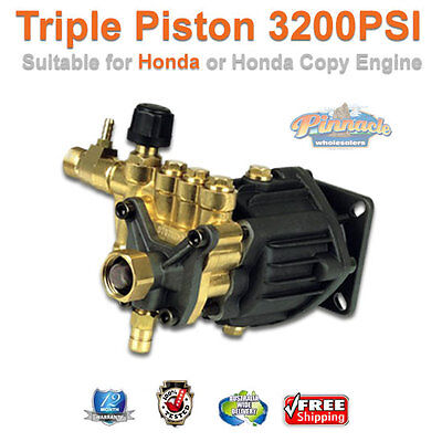 New High Pressure Washer Water Pump 3200 Psi Triple Piston Pump Suit Honda
