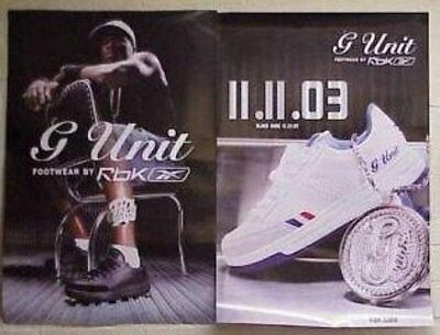 G-UNIT - REEBOK SHOES DOUBLE SIDED 24x36 POSTER P1785