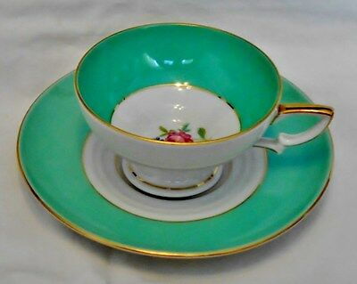 Vintage Eschenbach Baronet China Demitasse Floral Cup & Saucer Germany US Zone