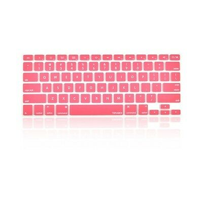 "NEW Rose Pink Silicone Keyboard Cover Skin for Macbook / Pro 13"" 15"" 17"" Retina"