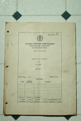 Original 1941 Wwii Curtiss Wright Propeller Service Manual St 1033