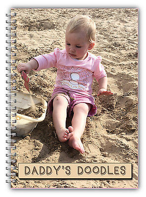 A5 Personalised Notebook/use Your Own Photo/ A5 Photo Book Gift