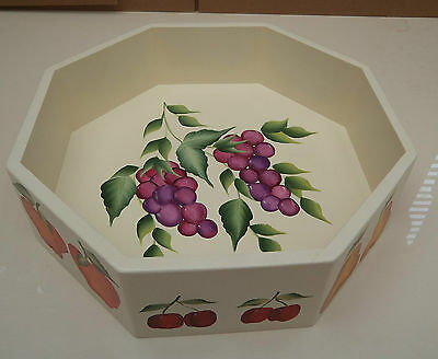 Hand Crafted  and Hand Painted Mdf Fruit Bowl