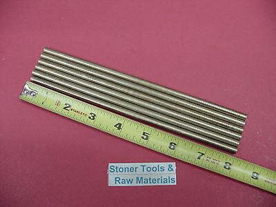 "6 Pieces of 1/4"" C360 BRASS SOLID ROUND ROD 8"" long .250"" Lathe Bar Stock"